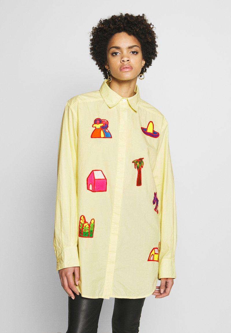 Stieglitz - RAUL BLOUSE - Button-down blouse - yellow