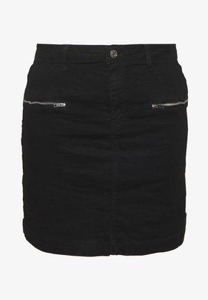 SUPERSTRETCH SKIRT - Denim skirt - black