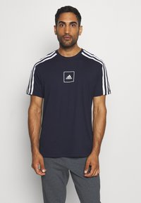 adidas Performance - SPORTSWEAR SHORT SLEEVE TEE - Print T-shirt - legend ink - 0