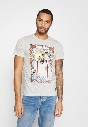 RAZOR - Print T-shirt - ecru marl