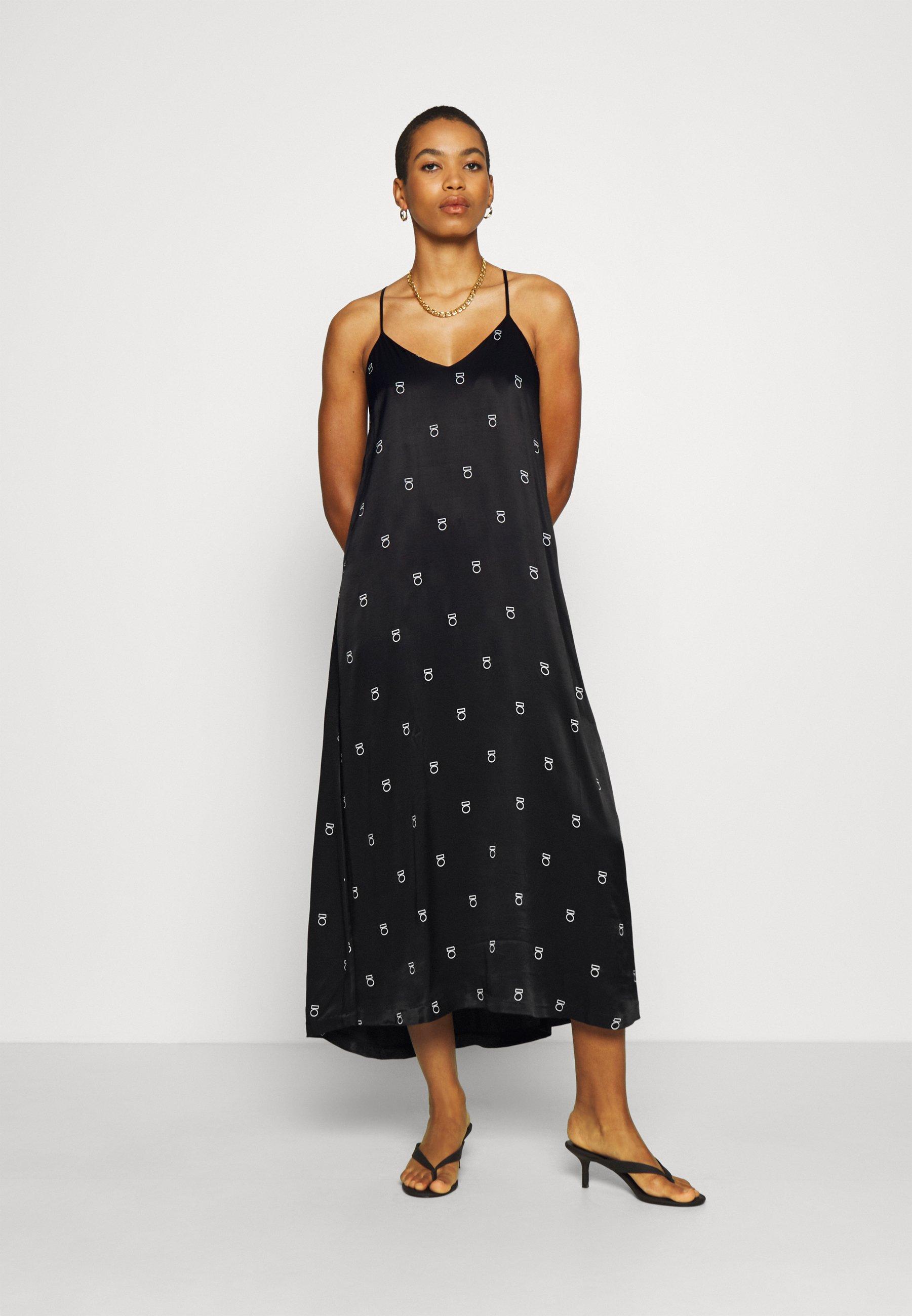10DAYS LONG DRESS MEDAL - Robe longue - black - Robes femme CsN2X