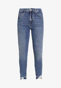 Topshop Petite - RIP HEM JAMIE - Jeans Skinny Fit - blue denim - 3