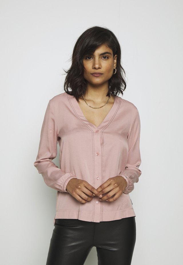 BUTTON UP BLOUSE - Blouse - muted pink