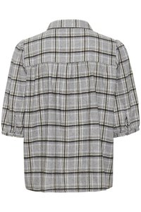 My Essential Wardrobe - MWBELLE PUFF - Button-down blouse - charcoal gray check - 5