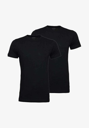 2 PACK - Basic T-shirt - schwarz