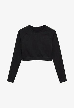 APOLINA - T-shirt à manches longues - zwart