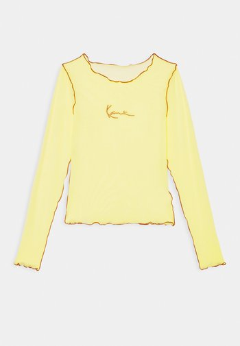 SMALL SIGNATURE - Long sleeved top - lime