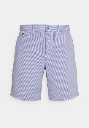 SEERSUCKER - Shorts - blue/white