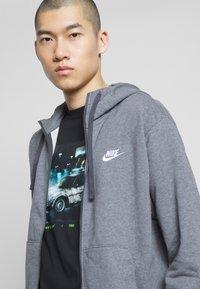 Nike Sportswear - M NSW FZ FT - Zip-up sweatshirt - charcoal heather/anthracite/white - 4