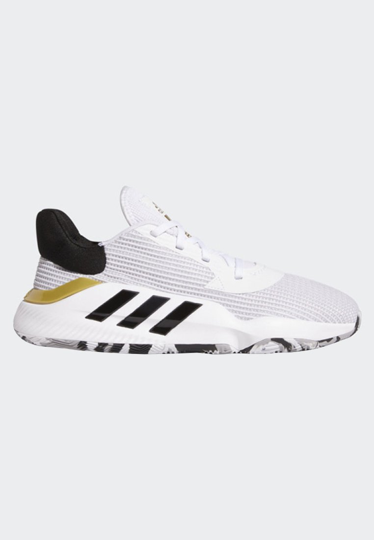 adidas Performance PRO BOUNCE 2019 LOW SHOES - Basketballschuh - white/weiß - Herrenschuhe AldI4