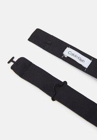 Calvin Klein - OXFORD SOLID BOW TIE - Fluga - black - 2