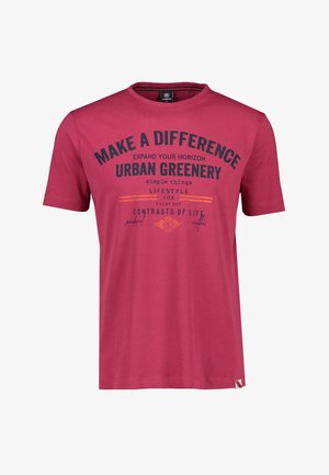MAKE A DIFFERENCE - Print T-shirt - coral red