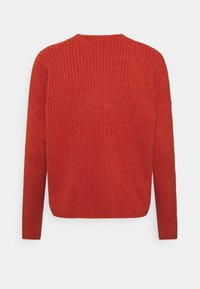 Madewell - SECRET SANTA V NECK CARDIGAN - Cardigan - heather brick - 1
