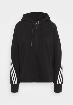 LINEAR FULL ZIP ESSENTIALS SPORTS HOODIE - Sweatjakke /Træningstrøjer - black/white