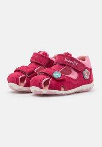 Superfit - FANNI - Sandals - rot/rosa - 1