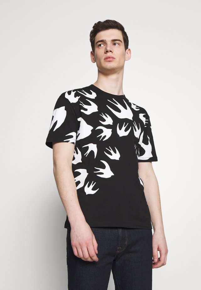 SWALLOW DROPPED SHOULDER - T-Shirt print - darkest black