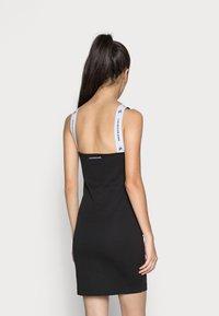 Calvin Klein Jeans - STRAP SQUARE NECK DRESS - Shift dress - black - 2
