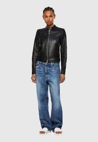 Diesel - Leather jacket - black - 1