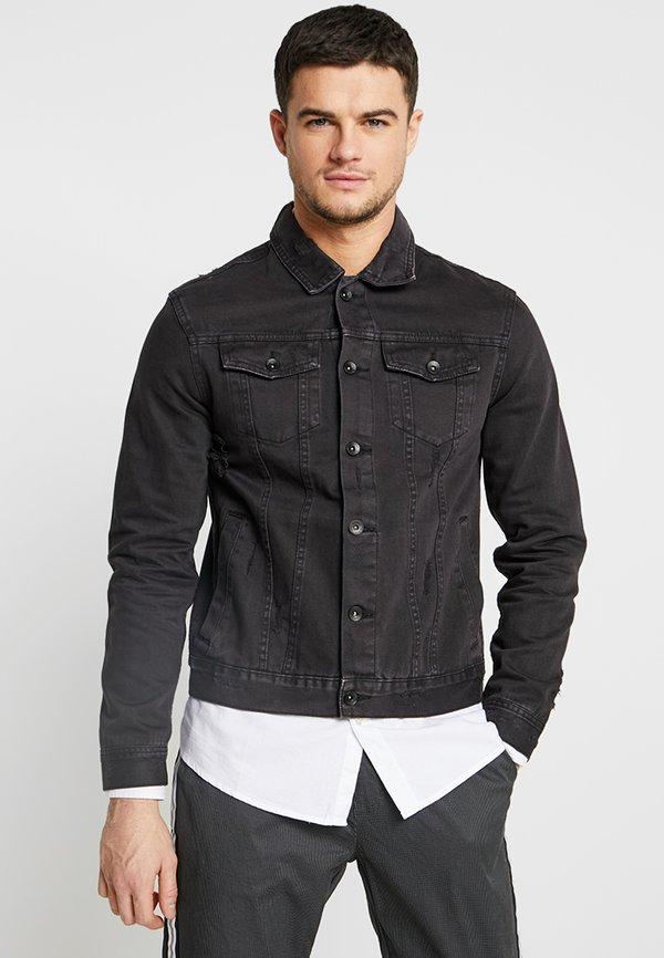 Cotton On UNISEX RODEO JACKET - Kurtka jeansowa - distressed black/czarny Odzież Męska XGVL