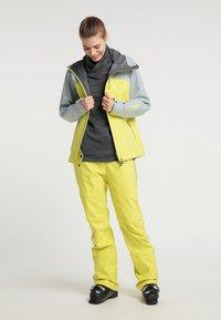 PYUA - Waterproof jacket - french grey - lemon yellow - 1