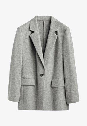MIT EIN KNOPF VERSCHLUSS  - Krótki płaszcz - grey