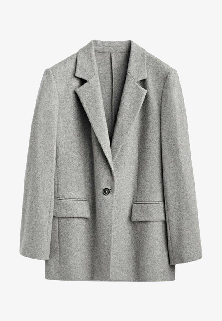 Massimo Dutti - MIT EIN KNOPF VERSCHLUSS  - Short coat - grey