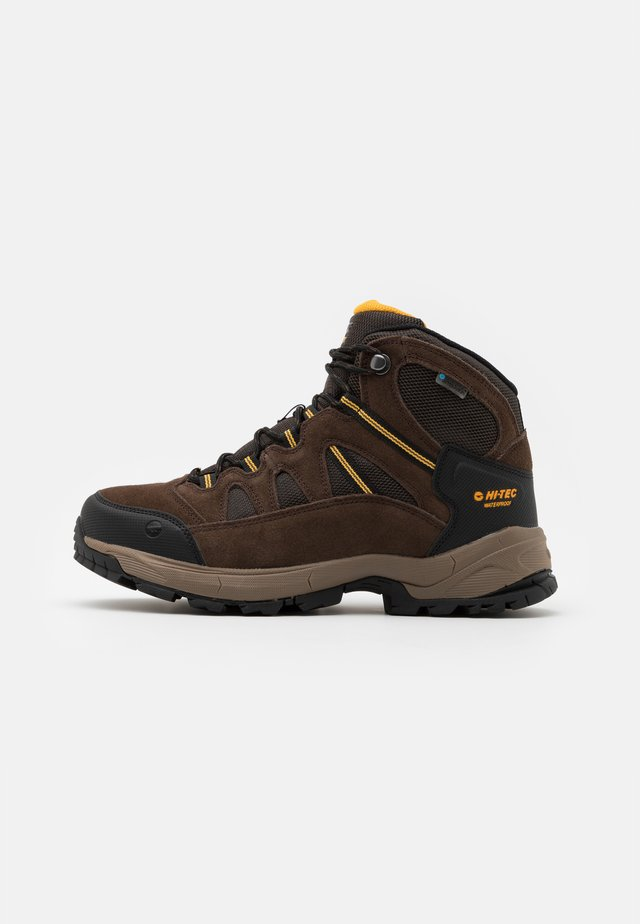 BANDERA LITE MID WP - Hiking shoes - dark chocolate/taupe/core gold