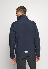 CMP - MAN ZIP HOOD JACKET - Soft shell jacket - blue/acido - 3