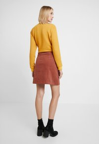 Louche - NEOLA - A-line skirt - dark peach - 2