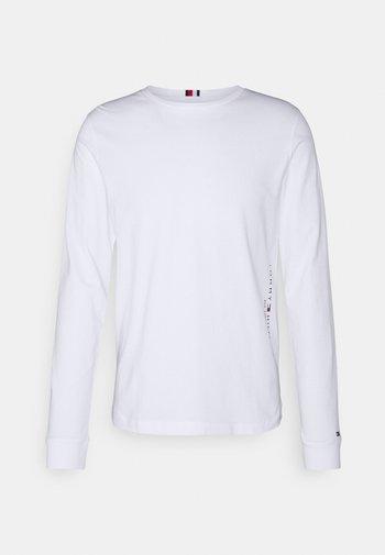 LOGO LONG SLEEVE - Pitkähihainen paita - white