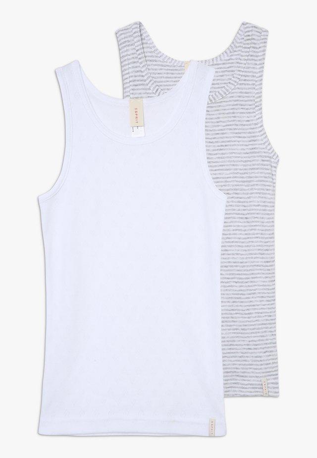 GIRLIE MIX TANK 2 PACK - Maglietta intima - light grey
