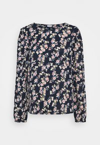 Vila - VIDOTTIES O NECK - Long sleeved top - navy blazer/ pink - 3