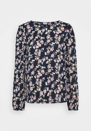 VIDOTTIES O NECK - Camiseta de manga larga - navy blazer/ pink