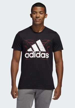FUTURE COURTS T-SHIRT - Print T-shirt - black