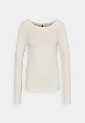 PCLIVA LOUNGE TALL - Long sleeved top - buttercream