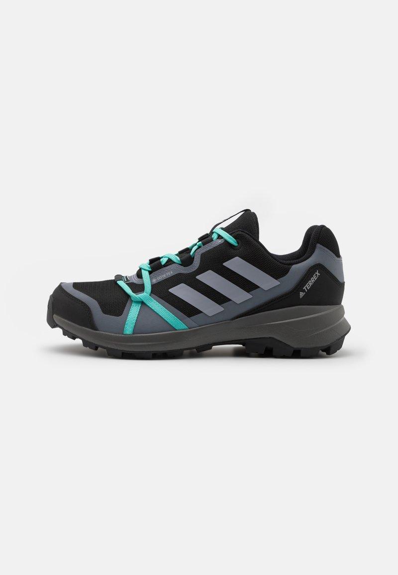 adidas Performance - TERREX LITESKY GORE-TEX - Hiking shoes - core black/halo silver/acid mint