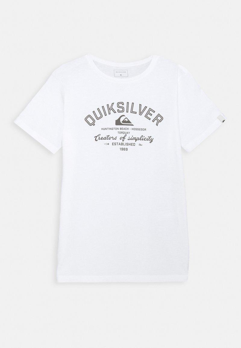 Quiksilver - SCREEN TEE - Printtipaita - white