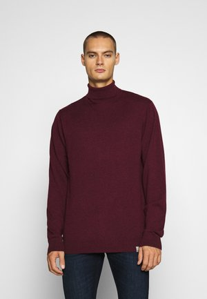 PLAYOFF TURTLENECK - Strikkegenser - merlot heather
