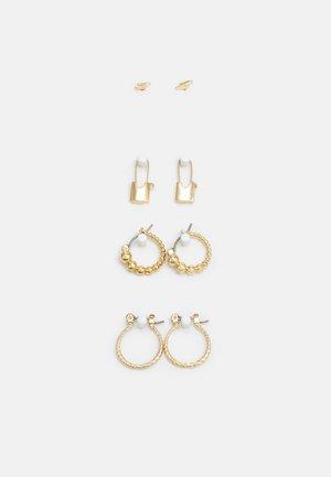PCLAISE EARRINGS 4 PACK - Øredobber - gold-coloured