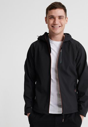 SOFTSHELL - Zip-up hoodie - black