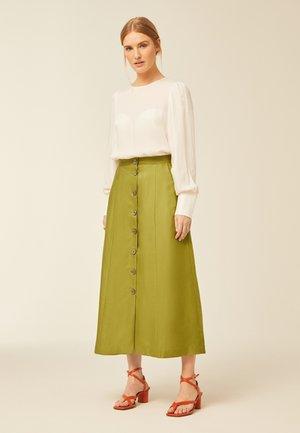 A-line skirt - leaf green