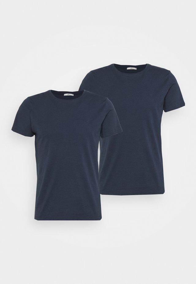 2 PACK - Basic T-shirt - navy/ navy