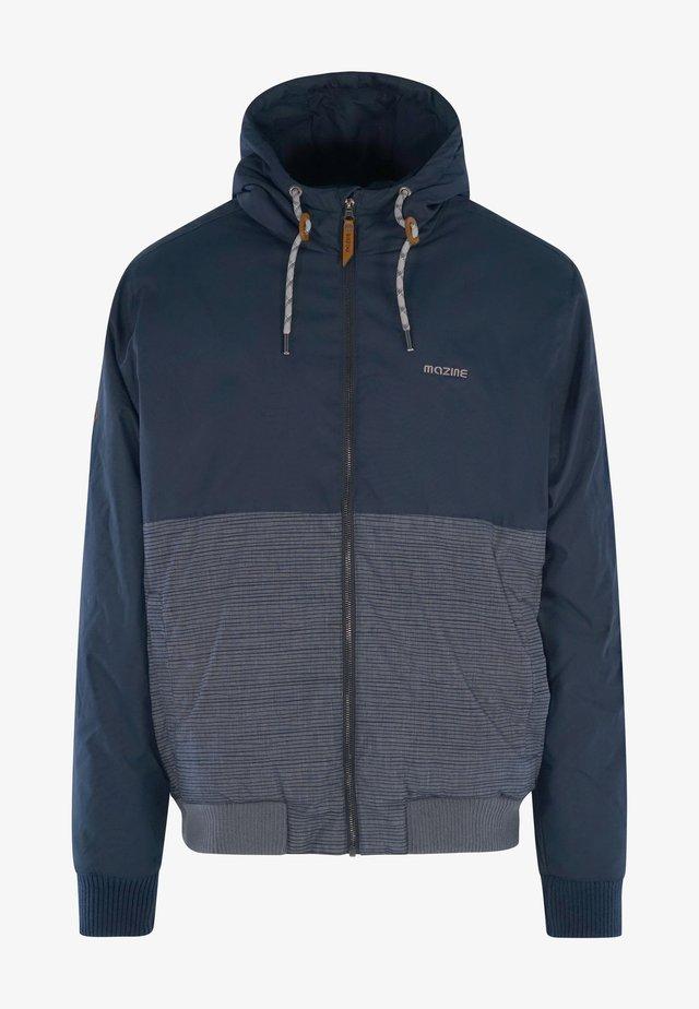 veste en sweat zippée - navy striped