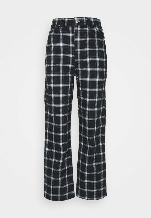 PLAID CARPENTER - Trousers - navy