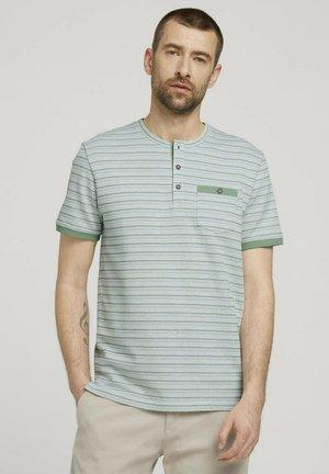 GESTREIFTES - Print T-shirt - mint green waffle stripe