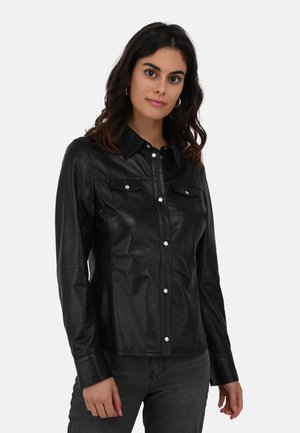 MEREDITH - Leather jacket - black