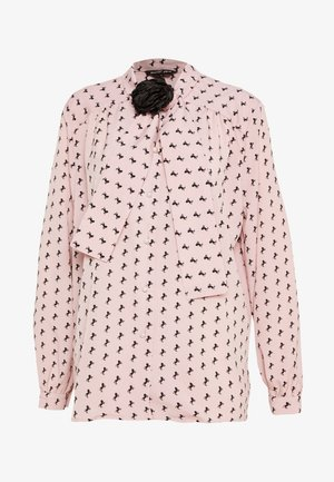 WILD HORSES BOW BLOUSE - Blouse - pink
