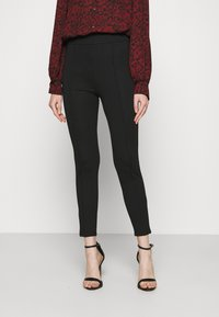 Even&Odd - TAILORED PUNTO PANTS WITH PINTUCKS  - Trousers - black - 0