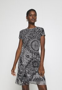Desigual - VEST PARIS - Day dress - black - 0