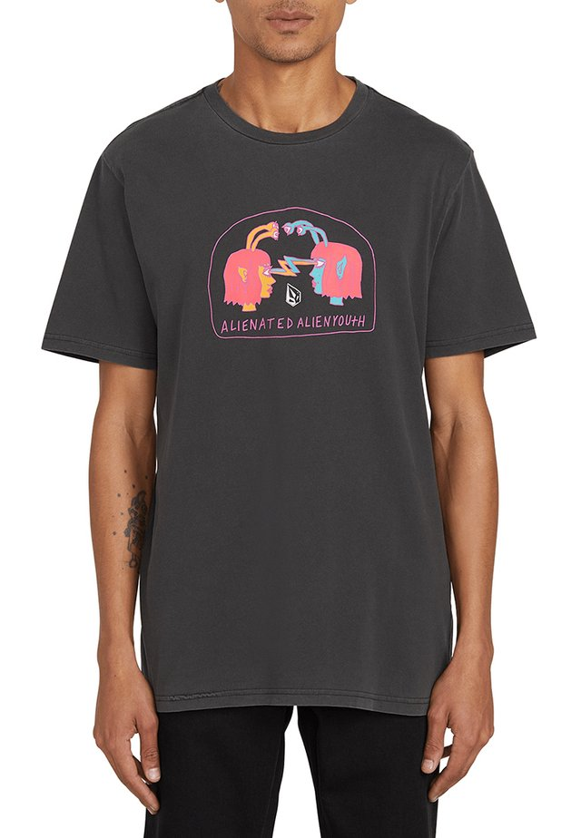 SUBJECTS S/S TEE - T-shirt con stampa - black